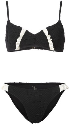 Morgan Lane jacquard Lulu bikini set