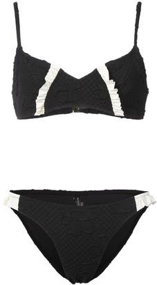 Morgan Lane jacquard Lulu bikini set