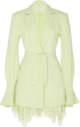 Jonathan Simkhai Victoria Lace-Embellished Crepe Dress