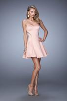 La Femme 21982 Embellished Satin A-line Dress