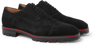 Christian Louboutin Hubertus Cap-Toe Suede Oxford Shoes