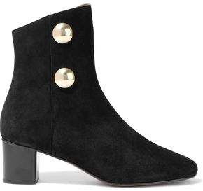 Chloé Orlando Button-embellished Suede Ankle Boots