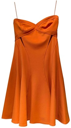 Zac Posen Orange Polyester Dresses