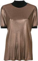 Fabiana Filippi contrast metallic blouse - women - Polyamide/Acetate/Merino - 44