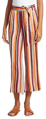 Frame Cropped Clean Stripe Pants