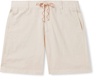 Faherty Linen And Cotton-Blend Drawstring Shorts