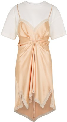 Alexander Wang Peach silk-satin dress