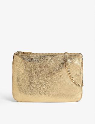 Sandro Metallic Addict pouch bag