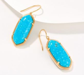 Generation Gems 14K Gold Plated Gemstone Fancy Cabochon Earrings