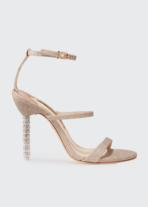 Sophia Webster Rosalind Glitter Sphere-Heel Sandals
