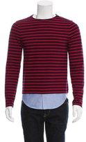 Band Of Outsiders Stripe Pattern Paneled Sweater