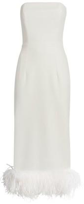 16Arlington Minelli Feather-Trim Dress