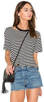 Monrow Slash Stripe Athletic Tee