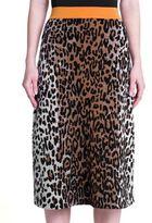 Stella McCartney Leopard Print Jacquard Skirt
