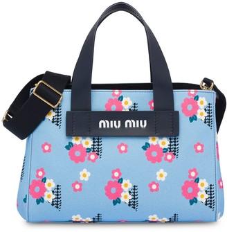 Miu Miu Floral-Print Tote Bag