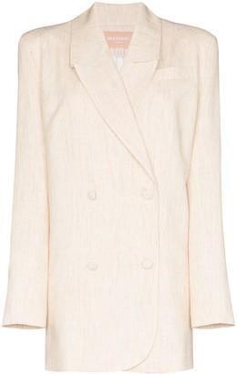 MATÉRIEL Double-Breasted Long Blazer