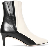 ATP Atelier - Nila Two-tone Leather Ankle Boots - Black