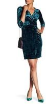 Maggy London 3/4 Length Sleeve Crushed Velvet Dress