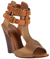 CHLOÉ - Woven wedge sandals