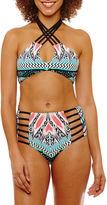 A.N.A a.n.a Chevron Bandeau Swimsuit Top