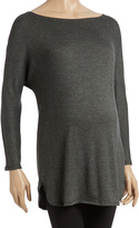 Glam Charcoal Dolman Maternity Tunic