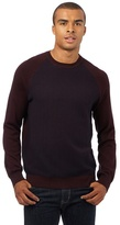 Red Herring Dark Red Textured Front Panel Jumper