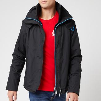 Superdry Men's Pop Zip Hood Arctic SD Windcheater NB - Black/Super Denby - M