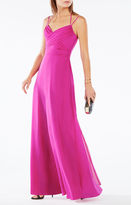 BCBGMAXAZRIA Rosabelle Open-Back Silk Gown