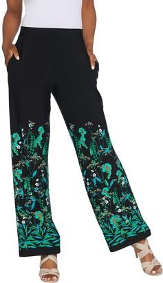 Susan Graver Regular Printed Liquid Knit Pull-On Pants