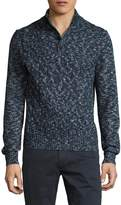 Toscano Men's Cableknit Mock Turtleneck Sweater