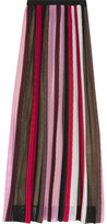 Missoni Pleated Crochet-Knit Maxi Skirt
