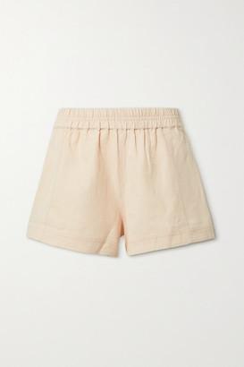 Apiece Apart Denys Linen And Cotton-blend Twill Shorts - Blush