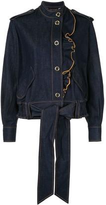 Karen Walker Coriolis ruffle trim jacket