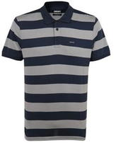 Dkny Thick Stripe Cotton Polo Shirt