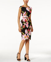 Connected Floral-Print Faux-Wrap Dress