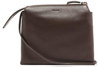 The Row Nu Twin Mini Leather Cross-body Bag - Burgundy