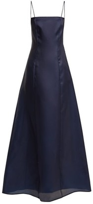 ALBUS LUMEN Noche Silk-organza Maxi Dress - Womens - Navy
