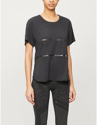 adidas by Stella McCartney Logo-print stretch-woven T-shirt