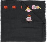 Valentino Garavani Valentino counting print scarf - women - Silk/Polyester/Cashmere/Wool - One Size