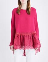 Antonio Berardi Lace-panel knitted jumper