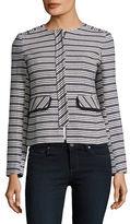 Helene Berman Striped Boucle Jacket