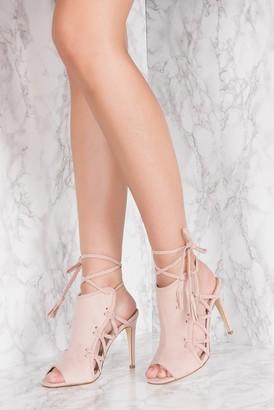 NA-KD Side Lacing High Heel