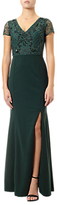 Adrianna Papell Plus Size Beaded Ball Gown, Emerald