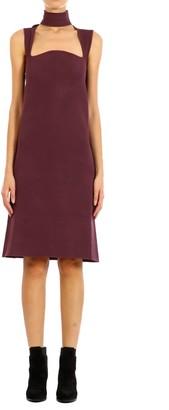 Bottega Veneta Sleeveless Square Neckline Midi Dress
