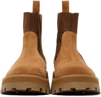 Jimmy Choo Tan Suede Clayton Boots