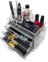 SORBUS Sorbus Acrylic Cosmetics and Makeup Storage Case Display- Includes Round Top Storage with 3 Large Drawers -Space- Saving