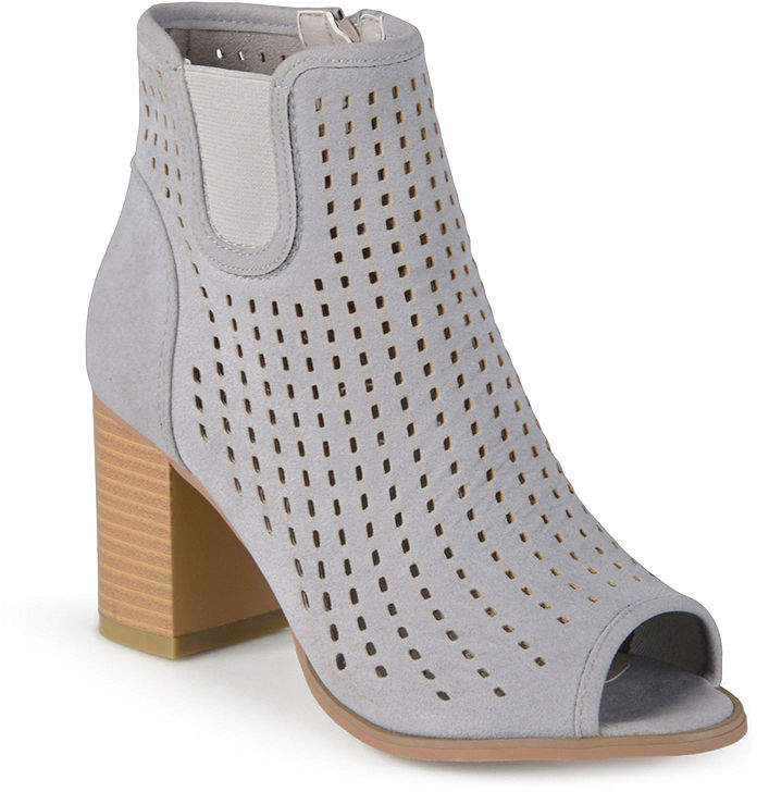 Journee Collection Emm Peep Toe Ankle Womens Booties