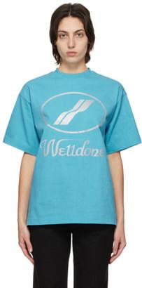 we11done Blue Logo T-Shirt