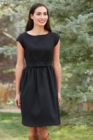 Shabby Apple Blitzen Fit and Flare Black Dress