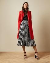 Ted Baker Polka Dot Pleated Midi Skirt